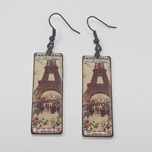 Paris Eiffel Tower Dangle Earrings